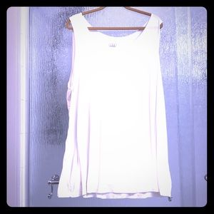 Logo tank top in Ivory